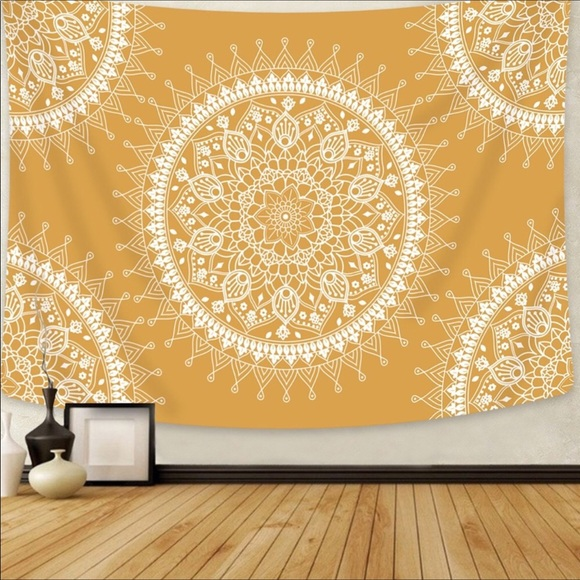 Other - 💕NEW Tapestry Yellow Mandala💕